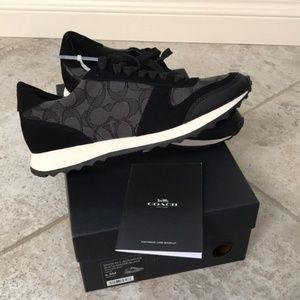 Coach Mason Jacquard Sneaker black smoke size 8